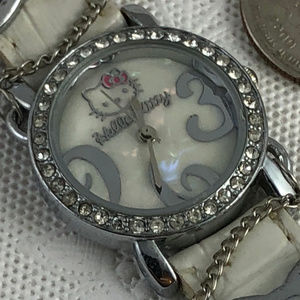 Hello Kitty Childs Watch MOP Face with Crystals